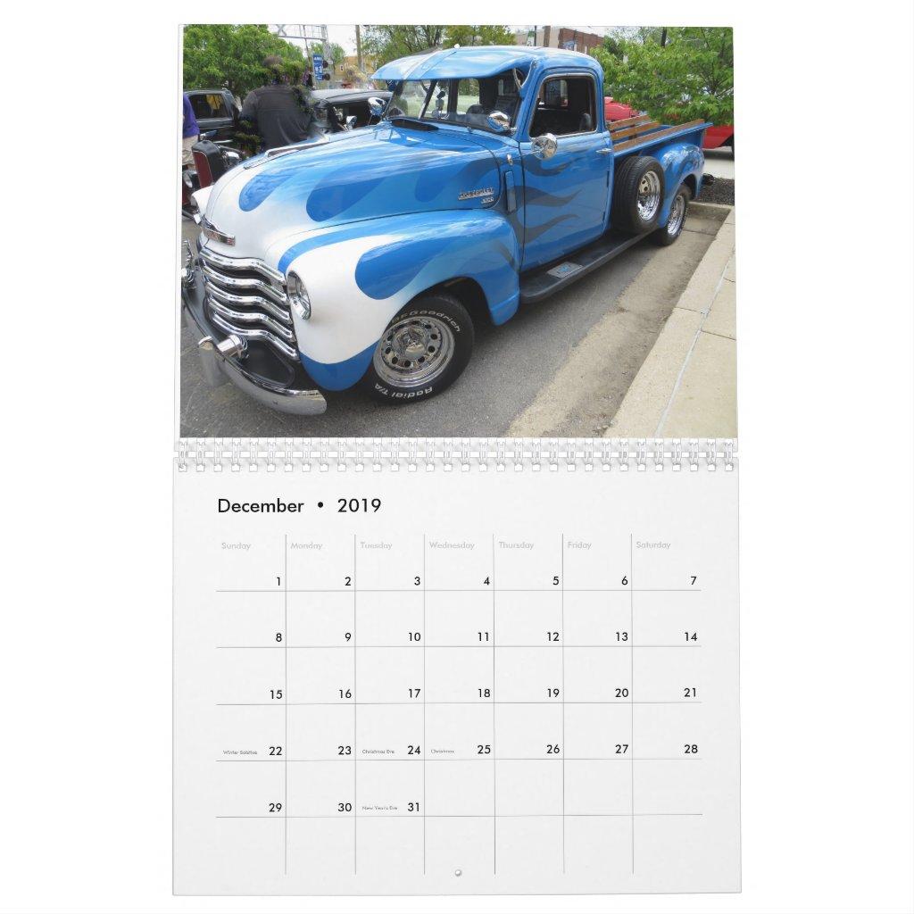 2019 Automotive Calendar