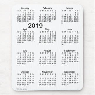 2019 Black and White Large Print Calendar by Janz Mouse Pad
