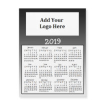 2019 Black Faded Magnet Calendars
