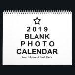 """2019 Blank Custom Photo Calendar<br><div class=""""desc"""">2019 Blank Custom Photo Calendar. Add your custom photos and optional text.</div>"""