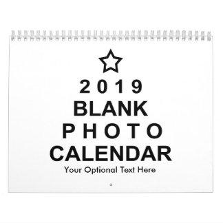 2019 Blank Custom Photo Calendar