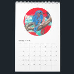 """2019 Calendar - Birds and Bunnies<br><div class=""""desc"""">This whimsical calendar includes 12 original acrylic paintings. Most of the images are painted on wood blocks and are for sale on my Etsy site. @ewdesignlife After a trip to Belize,  I was inspired to paint birds and other animals. Enjoy the next year and be inspired!</div>"""