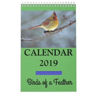"2019 Calendar Birds of a Feather, 11"" x 7"""