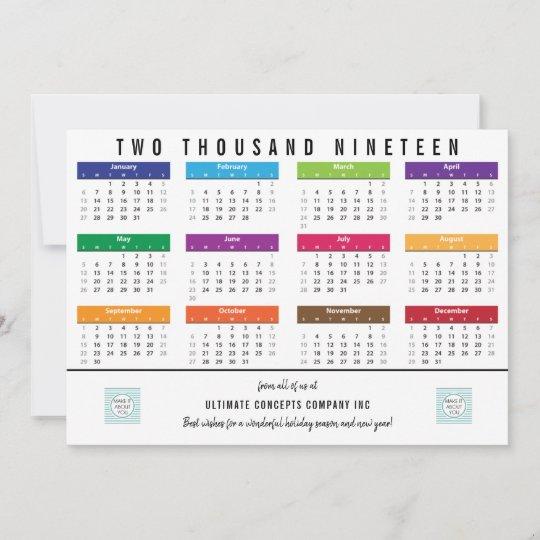 Emu Calendar.2019 Calendar Business Thank You On Back Holiday Card