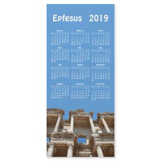 2019 calendar Ephesus, Turkey magnetic card