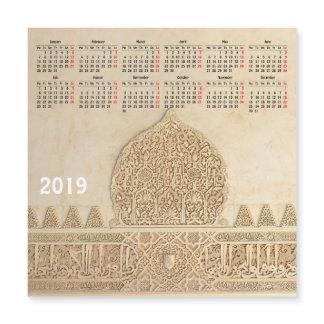 2019 calendar Granada, Spain