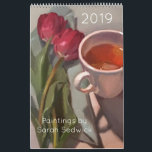 """2019 Calendar, Paintings by Sarah Sedwick Calendar<br><div class=""""desc"""">A colorful still life painting for every month of the year! Original artwork by Sarah Sedwick. More about the artist at sarahsedwick.com</div>"""