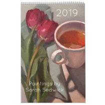 2019 Calendar, Paintings by Sarah Sedwick Calendar