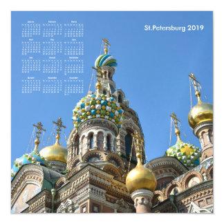 2019 calendar St.Petersburg Magnetic Invitation
