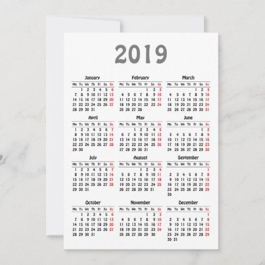 Emu Calendar.2019 Calendar Template