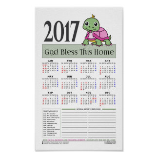 2019 Calendar [Turtle: Breast Cancer Awareness] Poster