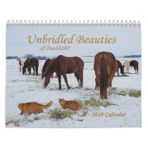 2019 calendar Unbridled Beauties of DoubleHP