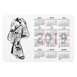 2019 Calendar Vintage Japanese Print Magnet