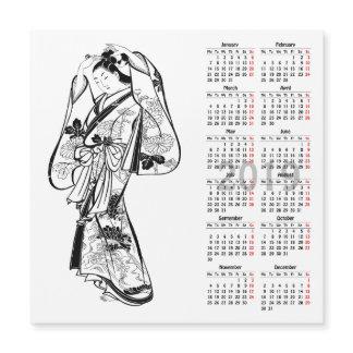 2019 Calendar Vintage Japanese Print magnetic card