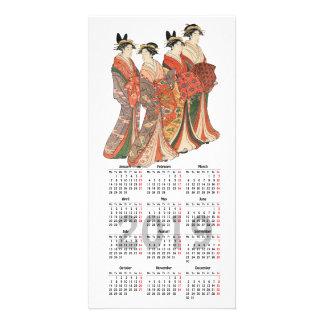 2019 calendar with vintage Japanese print Card
