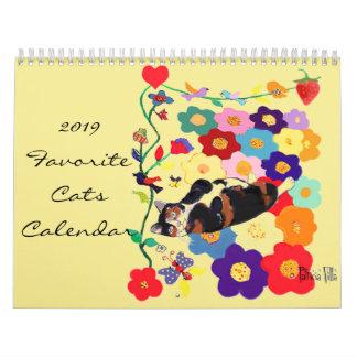 2019 Cat Calendar by Artist