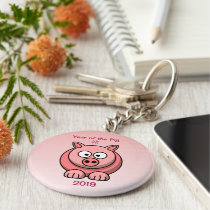 2019 Chinese New Year of the Pig Keychain