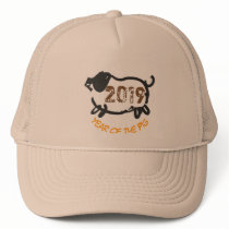 2019 Chinese Year of The Pig trucker Hat