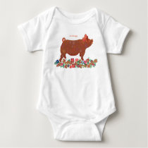 2019 Chinese Zodiac Pig Babies Baby Bodysuit