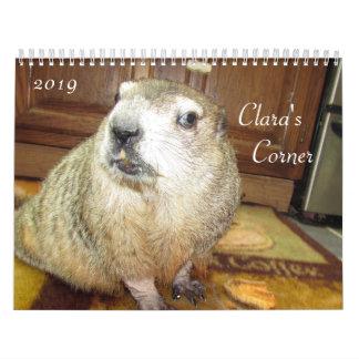 2019 Clara's Corner Groundhog Calendar B