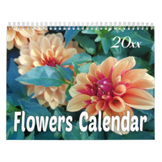 2019 Colorful Flowers Calendar
