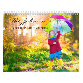 2019 Custom Photo Calendar with Editable Year Text