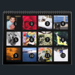 "2019 Easy as 1 to 12 Your Own Photo Calendar Black<br><div class=""desc"">12 of your photos is all you need to create your own custom personalized 2019 black wall calendar. A centered subject works best, your pictures will fit in and be cropped to a square format automatically. Picture templates are numbered from 1 to 12 for the first month to the last...</div>"