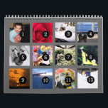 "2019 Easy as 1 to 12 Your Own Photo Calendar Grey<br><div class=""desc"">12 of your photos is all you need to create your own custom 2019 grey wall calendar. A centered subject works best, your pictures will fit in and be cropped to a square format automatically. Picture templates are numbered from 1 to 12 for the first month to the last month;...</div>"