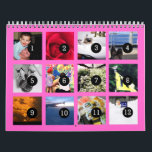 """2019 Easy as 1 to 12 Your Own Photo Calendar Pink<br><div class=""""desc"""">12 of your photos is all you need to create your own 2019 custom personalized pink wall calendar. A centered subject works best, your pictures will fit in and be cropped to a square format automatically. Picture templates are numbered from 1 to 12 for the first month to the last...</div>"""