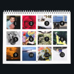 "2019 Easy as 1 to 12 Your Own Photo Calendar White<br><div class=""desc"">12 of your photos is all you need to create your own custom personalized white 2019 wall calendar. A centered subject works best, your pictures will fit in and be cropped to a square format automatically. Picture templates are numbered from 1 to 12 for the first month to the last...</div>"