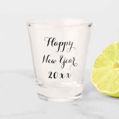 2019 Elegant Script Happy New Year Party Whiskey Shot Glass