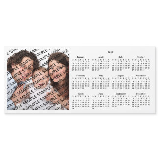 2019 Family Photo Custom Calendar Magnetic Card