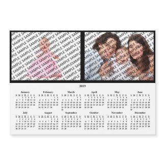 2019 Family Portrait Custom Calendar Magnet