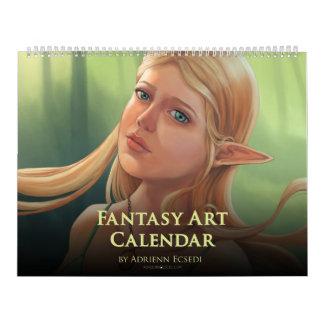 2019 Fantasy Art Calendar by Adrienn Ecsedi