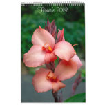 2019 Flowers Wall Calendar by Lisa Blake