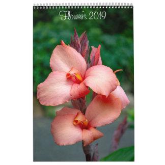 2019 Flowers Wall Calendar by Lisa Blake