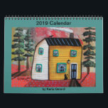 """2019 Folk Art Calendar by Karla Gerard<br><div class=""""desc"""">2019 Folk Art Calendar by Karla Gerard. This 12-months calendar boasts a beautiful folk art landscape image from the original paintings by Karla Gerard, Folk Art Abstract Artist, for each month. It would be useful for home, office or any other area where you have the need to know the current...</div>"""