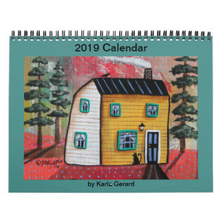 2019 Folk Art Calendar by Karla Gerard