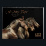 """2019 Forest Boyz Calendar<br><div class=""""desc"""">Do you wonder if there is such a thing as heaven on earth? There is… meet the Forest Boyz. Meike, Menno and Saphire are Friesian stallions that live free in a bachelor herd in the forests of the northern California coast. They have been together since they were yearlings and their...</div>"""