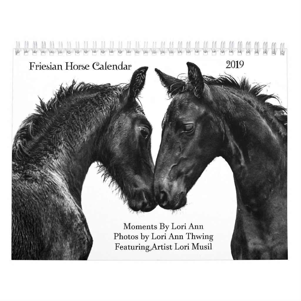 2019 Friesian Horse Calendar- Moments By Lori Ann Calendar