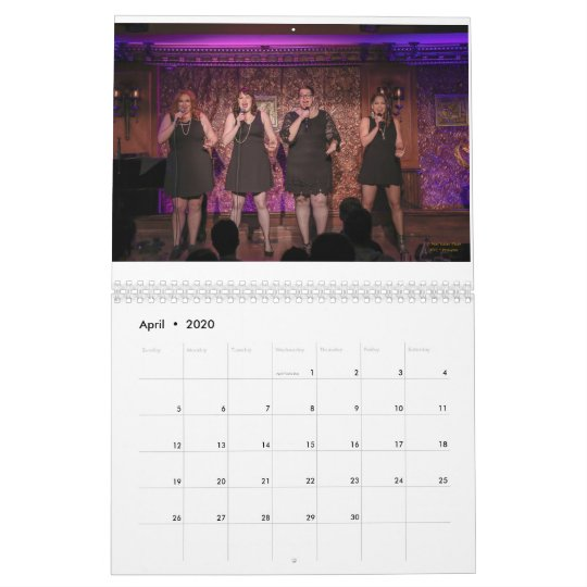 Gpc Calendar 2020 2019 Guilty Pleasures Cabaret Calendar | Zazzle.com