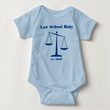 Halloween Themed 2019 Law School Baby Romper (Blue Ink)