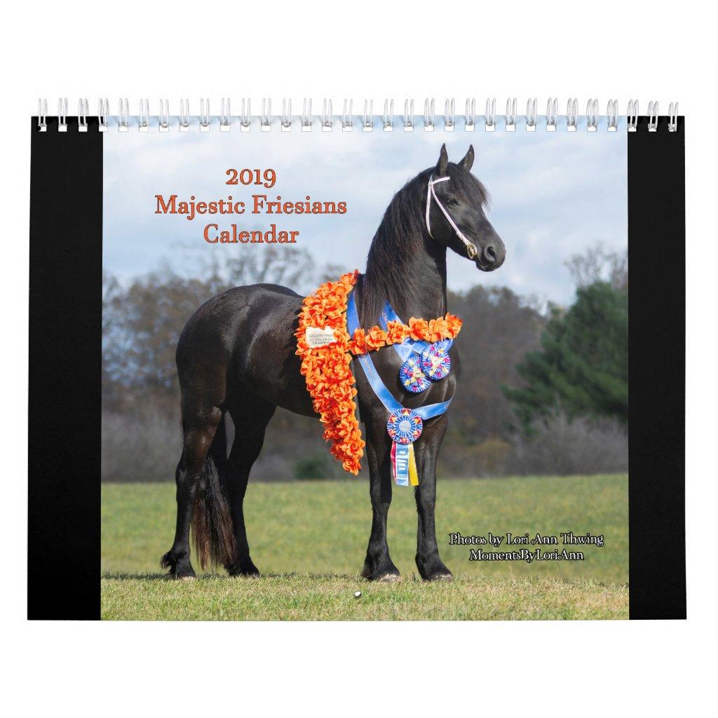 2019 Majestic Friesians Calendar