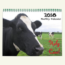 2019 Monthly Cow Wall Calendar Heifers Cattle Cows