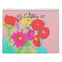 2019 My Calendar Decorated with Flowers by artist
