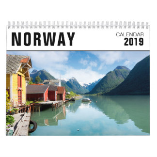 2019 Norway landscape photography Calendar