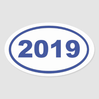 2019 PEGATINA OVALADA