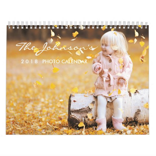 2019 Personalized Calendar  Editable Year Text