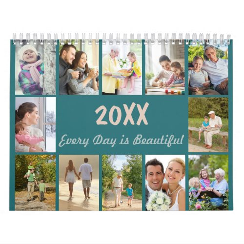 2019 Photo Collage w Monthly Photo  Special Notes Calendar