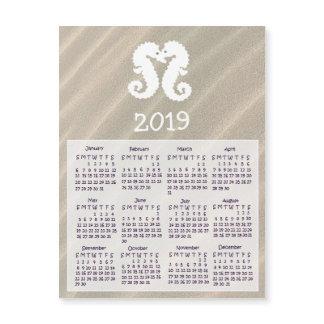 2019 Seahorse Mini Magnet Calendars